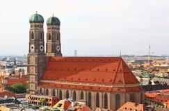 anteny centrum miasta Munich widok Obrazy Stock