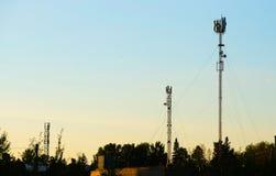 Anteny komórkowa komunikacja zdjęcia stock