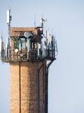 Anteny komórkowa komunikacja Zdjęcia Royalty Free