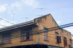Anteny na dachach Obrazy Royalty Free