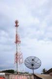 Anteny niebieskie niebo Zdjęcie Stock