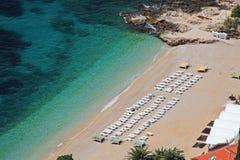anteny plażowy Dubrovnik widok fotografia royalty free