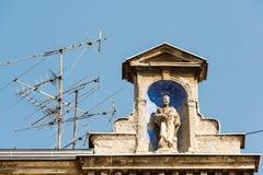 Anteny przy dachem Fotografia Royalty Free