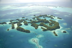 anteny sławny wysp Palau s siedemdziesiąt widok Zdjęcia Stock