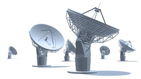 Anteny satelitarne ilustracja wektor
