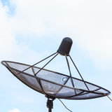Anteny satelitarnej czerni kolor Obraz Royalty Free