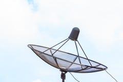 Anteny satelitarnej czerni kolor Zdjęcie Stock