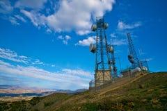 anteny szczyt górski Zdjęcia Royalty Free
