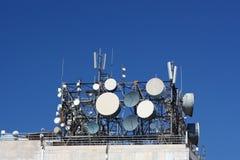anteny telekomunikacyjnym skupisk Obraz Royalty Free
