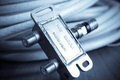 anteny telewizja kablowa zdjęcia stock
