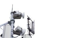 Anteny wierza dla sygnałowego przyjęcia zdjęcia royalty free