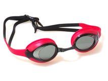 Anteojos de la natación aislados en el fondo blanco imagen de archivo libre de regalías