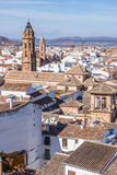 Antequera άσπρο χωριό, Μάλαγα, Ισπανία Στοκ Φωτογραφίες