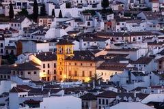 Antequera στο σούρουπο. Ισπανία Στοκ εικόνες με δικαίωμα ελεύθερης χρήσης