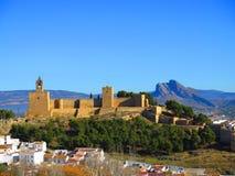 Antequera Alcazaba Castle Στοκ φωτογραφίες με δικαίωμα ελεύθερης χρήσης