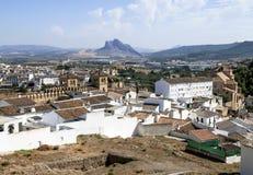 Antequera Castle τοίχος Στοκ Εικόνες