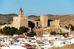 Antequera castle, Spain. Stock Image