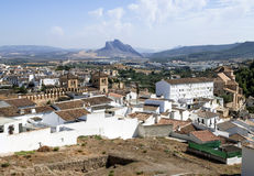 Antequera Castle wall Stock Photo