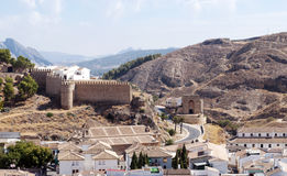 Antequera Castle wall Stock Photography