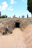 antequera dolmen EL κοντά romeral Ισπανία Στοκ Φωτογραφίες