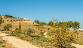 Antequera Dolmens περιοχή - άποψη Dolmen Menga, Ισπανία Στοκ φωτογραφίες με δικαίωμα ελεύθερης χρήσης
