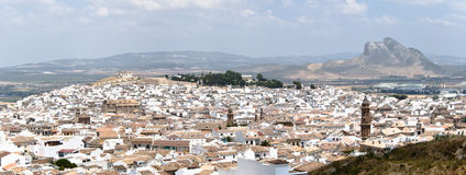 Antequera Overview. Panoramic view of the city of Antequera in Málaga Stock Image