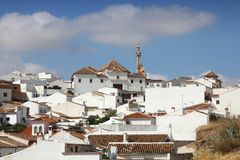 Antequera in Spain. Antequera, Spain. White town in the province of Andalusia stock photography