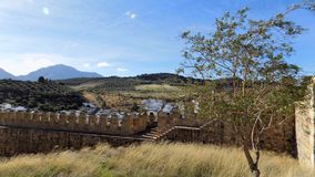 Antequera-Walls snd panoramic view- ANDALUSIA-SPAIN Royalty Free Stock Photography