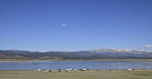 Antero Reservoir Campground imagem de stock