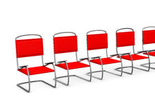 Anteroom. Red chairs in the anteroom on the white background Royalty Free Stock Image