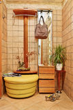 Anteroom interior in warm tones with hallstand Stock Image