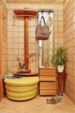 Anteroom interior in warm tones with hallstand Stock Image