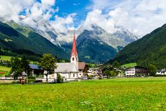 Anterselva di Sotto,  small village in South Tyrol, Italy. Anterselva di Sotto Antholz Niedertal, small village in South Tyrol, Italy Royalty Free Stock Photos