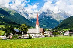 Anterselva di Sotto,  small village in South Tyrol, Italy. Anterselva di Sotto Antholz Niedertal, small village in South Tyrol, Italy Stock Photos