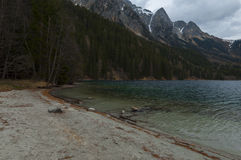 Anterselva& x27; s piękny jezioro podczas springera Fotografia Royalty Free
