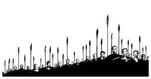 Antes da batalha ilustração stock