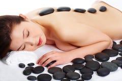Antes da massagem fotografia de stock royalty free