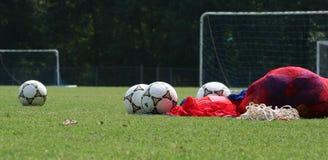 Antes da prática do futebol Imagem de Stock