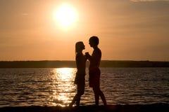 Antes de beso Fotografía de archivo