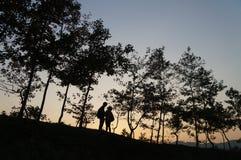 Antes de puesta del sol imágenes de archivo libres de regalías