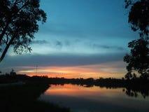 Antes de puesta del sol imagen de archivo libre de regalías