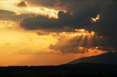 Antes de puesta del sol Fotografía de archivo libre de regalías