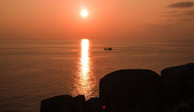 Antes de puesta del sol Foto de archivo libre de regalías