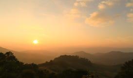 Antes de puesta del sol del Mountain View Fotografía de archivo libre de regalías