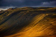 Antes de puesta del sol en Chile Imagen de archivo libre de regalías