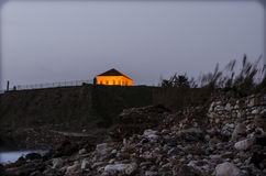 Casa cerca de la playa Fotografía de archivo