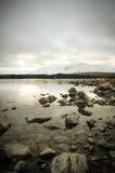Antes de sunsire en los lugares del paraíso en Nueva Zelanda del sur/el lago Tekapo/iglesia del buen pastor Fotografía de archivo libre de regalías