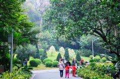 Antes del Año Nuevo chino del paisaje del parque de Yuexiu Imagen de archivo libre de regalías