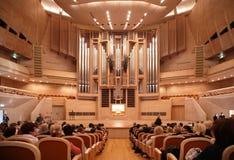 Antes del concierto de la música de órgano Foto de archivo libre de regalías
