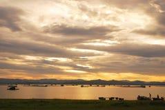 Antes do por do sol Imagens de Stock